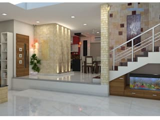 Project in Bachupally @ Praneeth Antilia to Peter:  Living room by shree lalitha consultants