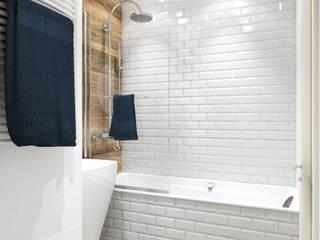 Ванная комната Ванная комната в скандинавском стиле от Дизайн студия ТТ Скандинавский