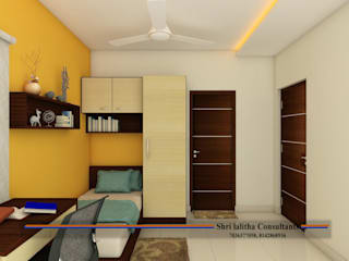 PROJECT @ KUKATPALLY:  Bedroom by shree lalitha consultants