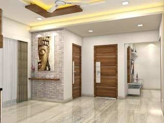 PROJECT @ GACHIBOWLI:  Dining room by shree lalitha consultants