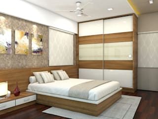 PROJECT @ GACHIBOWLI Asian style bedroom by shree lalitha consultants Asian Plywood