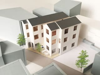 俯瞰: 富永大毅建築都市計画事務所が手掛けた家です。