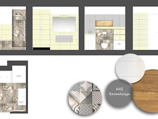 KHG Raumdesign - Innenarchitektin in Berlin und Umland, mgr. ing. Architektur Katharina Hajduk-Gast 現代浴室設計點子、靈感&圖片 磁磚 Multicolored