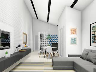 Minimalistische Wohnzimmer von Rafael Caldeira Arquitetura Minimalistisch