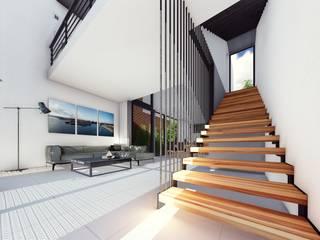 Escaleras: Salas de estilo  por TDT Arquitectos