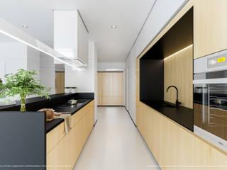 Apartament 175: styl , w kategorii Kuchnia zaprojektowany przez Hoski