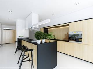 Kuchnia + jadalnia: styl , w kategorii Jadalnia zaprojektowany przez Hoski