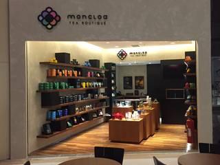 Moncloa - Tea Boutique Lojas & Imóveis comerciais modernos por Erlon Tessari Arquitetura e Design de Interiores Moderno