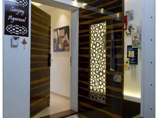 Flat interior design of Mr. Sanjay Agarwal Modern corridor, hallway & stairs by KAM'S DESIGNER ZONE Modern