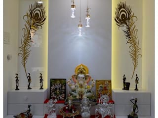 Mandir Interior Design:  Dining room by KAM'S DESIGNER ZONE