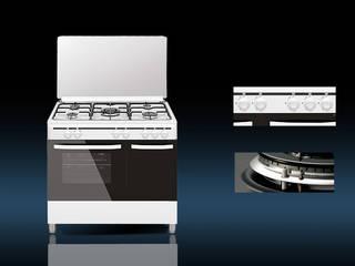 Vitrokitchen KuchniaNaczynia i urządzenia kuchenne Biały