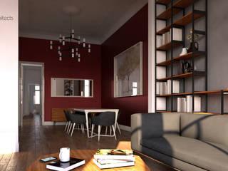 Столовая комната в стиле модерн от Two+architects Модерн