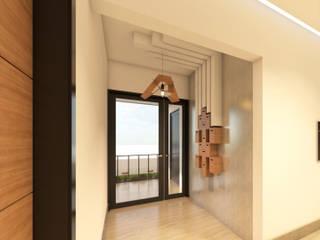 Коридор, прихожая и лестница в модерн стиле от Two+architects Модерн