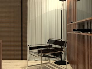 Тренажерный зал в стиле модерн от Caroline Berto Arquitetura Модерн