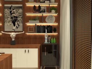 Рабочий кабинет в стиле модерн от Caroline Berto Arquitetura Модерн