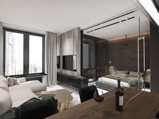 Dormitorios minimalistas de Y.F.architects Minimalista