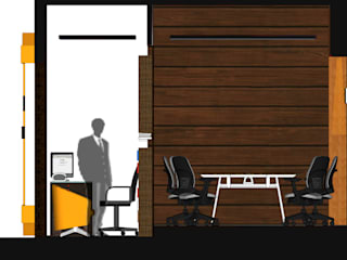 LOOK IN & LOOK OUT MY Studio Ruang Studi/Kantor Modern Komposit Kayu-Plastik Wood effect