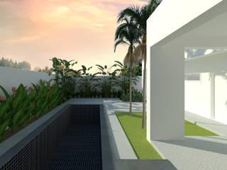 Residência IGA: Jardins  por Verdíssimo Paisagismo,Tropical