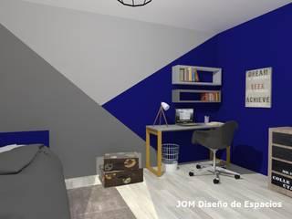 Dormitorio Matías Dormitorios modernos: Ideas, imágenes y decoración de JOM Diseño de Espacios Moderno