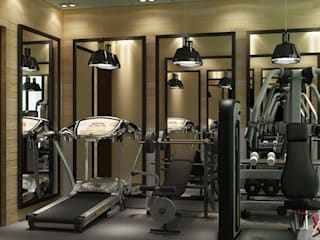 GYM AREA VIEW 1:  Gym by MAD DESIGN