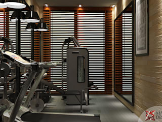 GYM AREA VIEW 2:  Gym by MAD DESIGN