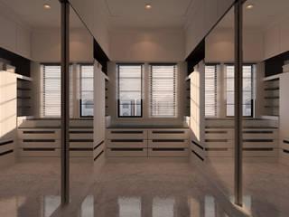 Winston's Master Bedroom Moderne kleedkamers van Chandra Cen Design Modern
