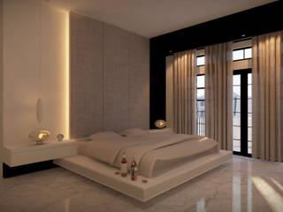Winston's Master Bedroom Quartos modernos por Chandra Cen Design Moderno