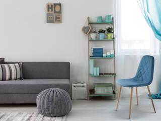 Niebieskie krzesło Atna od Homekraft : styl , w kategorii Jadalnia zaprojektowany przez Homekraft