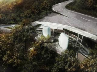 Penang Hill Rest Area Espaços comerciais modernos por Chandra Cen Design Moderno