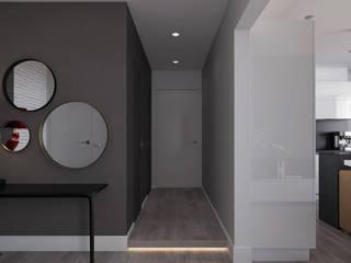 Minimalist corridor, hallway & stairs by Aleksandra Kostyuchkova Minimalist