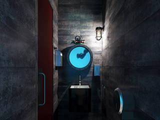 Общественный санузел в офисе.: Ванные комнаты в . Автор – Aleksandra  Kostyuchkova