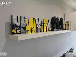 INTERIORISMO: diseño con alma de carácter masculino Salones de estilo industrial de IMPATTO Industrial