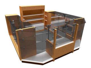 ISLA COMERCIAL PARA VENTA DE PRODUCTOS:  de estilo  por Jorge Osorio Arquitecto, Minimalista