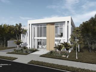 Projeto de Residência Unifamiliar no Condomínio Alphaville em Juiz de Fora/MG por Marcella Peixoto Arquitetura Design Moderno