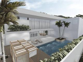Casas unifamiliares de estilo  por Marcella Peixoto Arquitetura Design