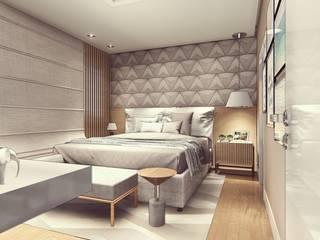 Projeto de Interiores Guaxupé - Mg Quartos modernos por Miragem Arquitetura e Engenharia Moderno