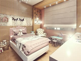 Nursery/kid's room by Miragem Arquitetura e Engenharia,