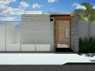Fachada Externa: Casas familiares  por Guilherme Abreu Arquitetura