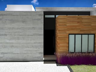 Fachada Interna: Casas familiares  por Guilherme Abreu Arquitetura
