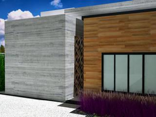 Detalhe da Entrada: Casas familiares  por Guilherme Abreu Arquitetura