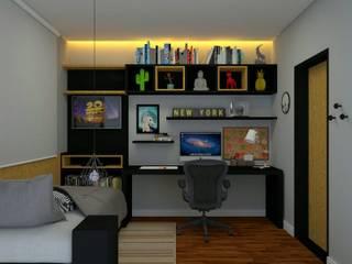 Reforma Dormitório Masculino: Quartos  por Guilherme Abreu Arquitetura