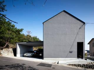 川添純一郎建築設計事務所 Casa unifamiliare Grigio