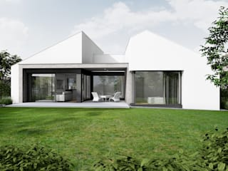 Dom jednorodzinny _ Komorniki: styl , w kategorii Domy zaprojektowany przez Offa Studio,Nowoczesny