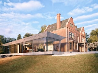 Glazed Extension for Dutch Gabled Property. HollandGreen Casas rurales Vidrio