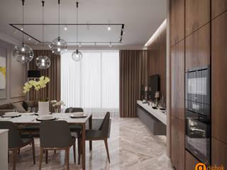 Artichok Design Minimalist dining room Brown