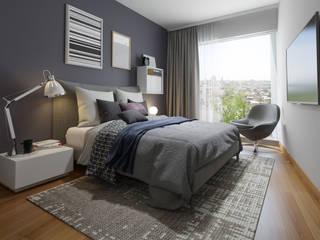 Dormitorios de estilo  por FABRE STUDIO,