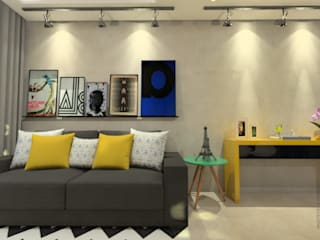 Reforma de Apartamento: Salas de estar  por Sitá Arquitetura e Urbanismo,Industrial