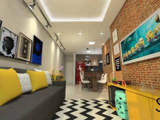 Reforma de Apartamento: Salas de estar  por Sitá Arquitetura e Urbanismo,Rústico