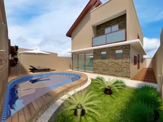 Residência Ribeirão Preto: Casas familiares  por Sitá Arquitetura e Urbanismo,Moderno