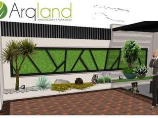 Proyecto Dra. Galindo: Jardines de estilo moderno por Arqland arquitectura y paisajismo